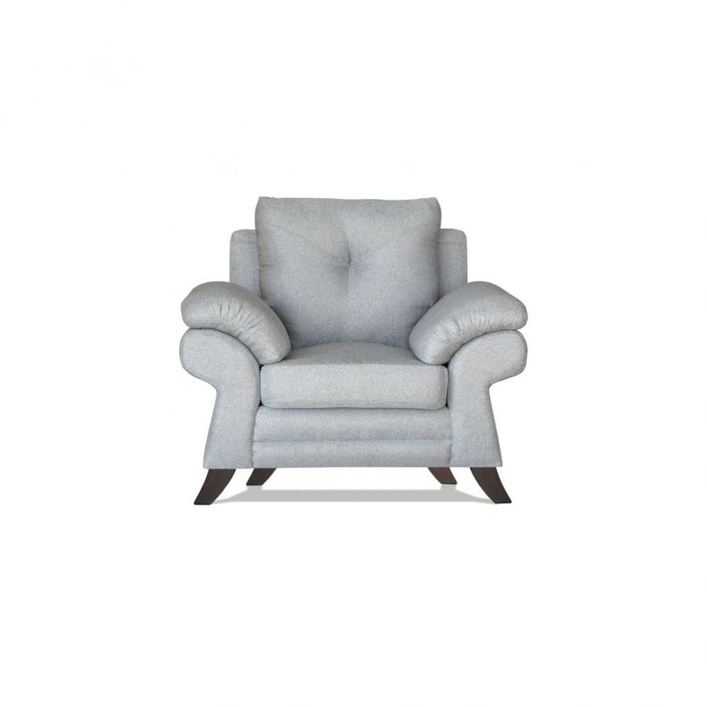 Sillón color gris, cómodo, estilo clásico moderno
