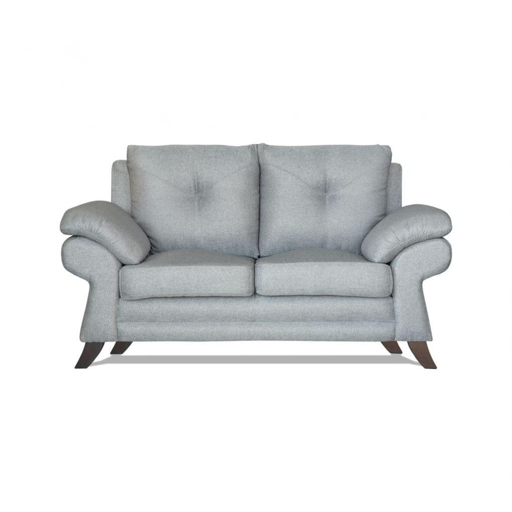 Sofá doble color gris, cómodo, estilo clasico moderno
