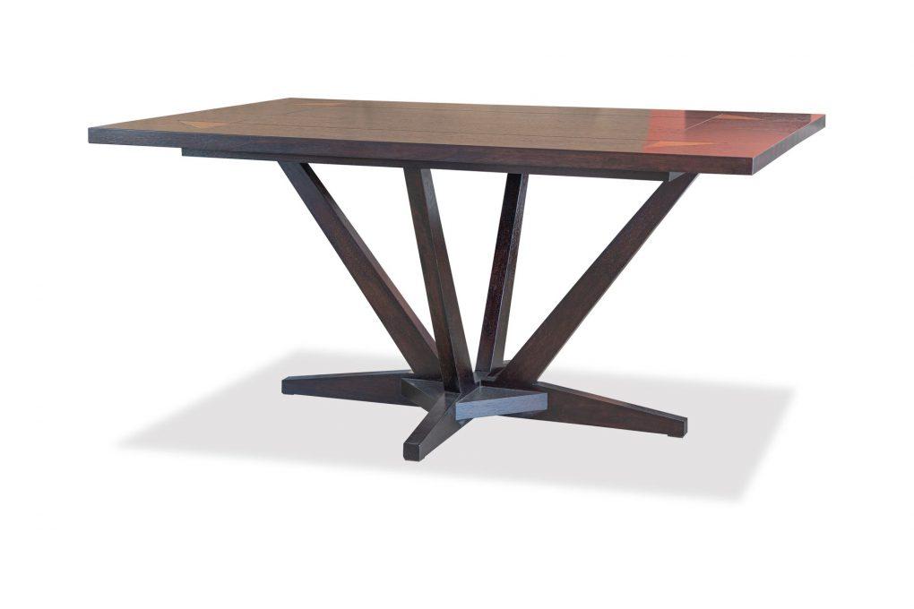 Mesa de comedor en madera sólida seike color wengue, mesas modernas, mesas lineales, mesas de vaguardia