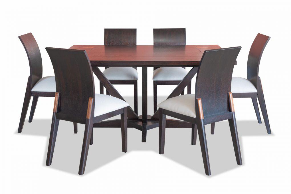 Mesa de comedor en madera sólida seike color wengue, mesas modernas, mesas lineales, mesas de vanguardia