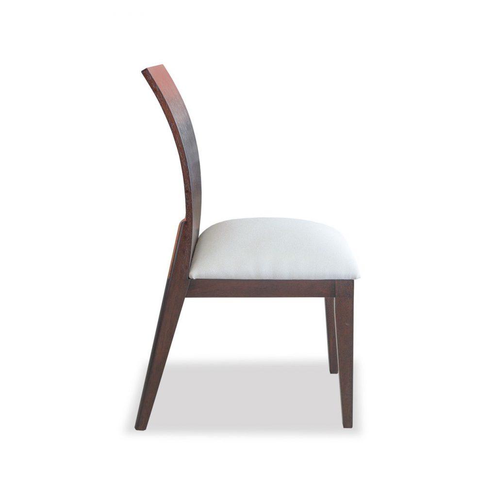 Silla de comedor madera sólida de seike color wengue, sillas de c