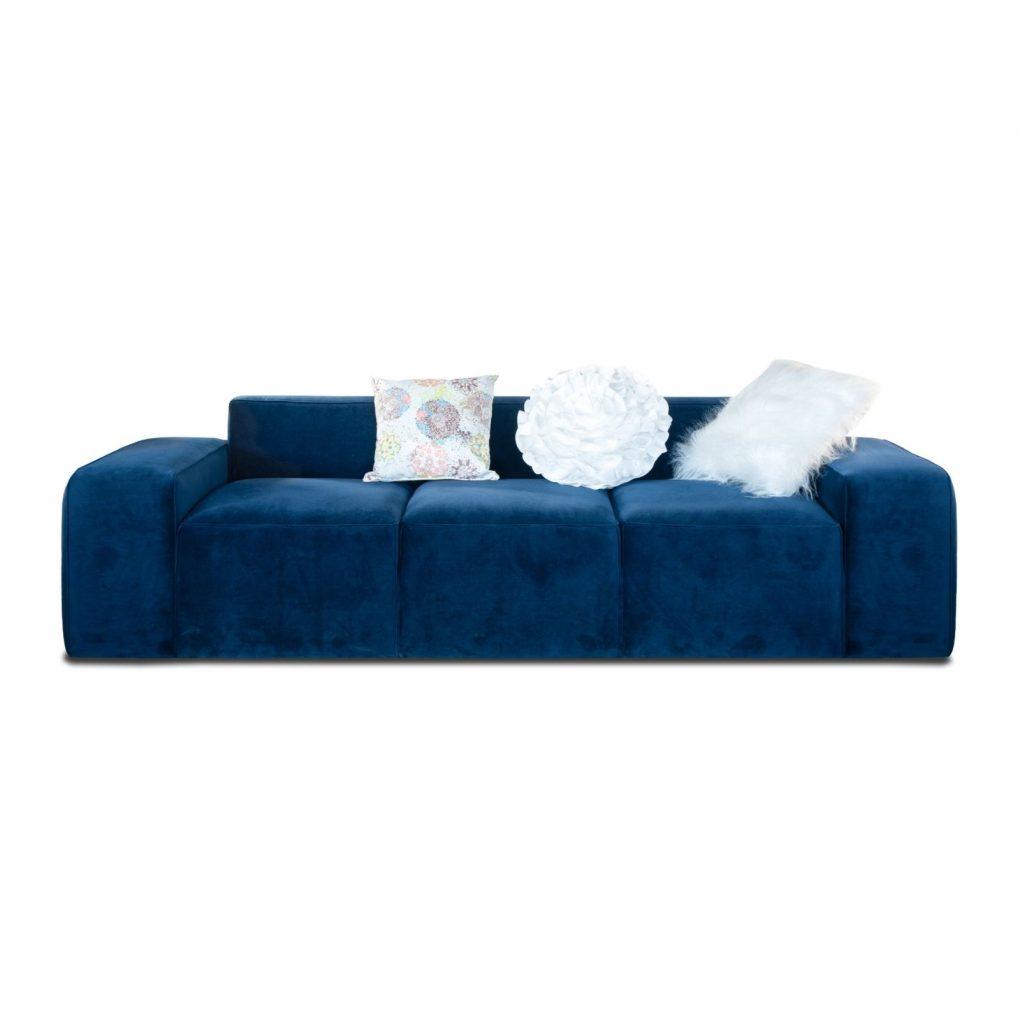 Sofá azul Blue, sofá lineal moderno, sofás personalizados, bajo medida, Quito, Ecuador