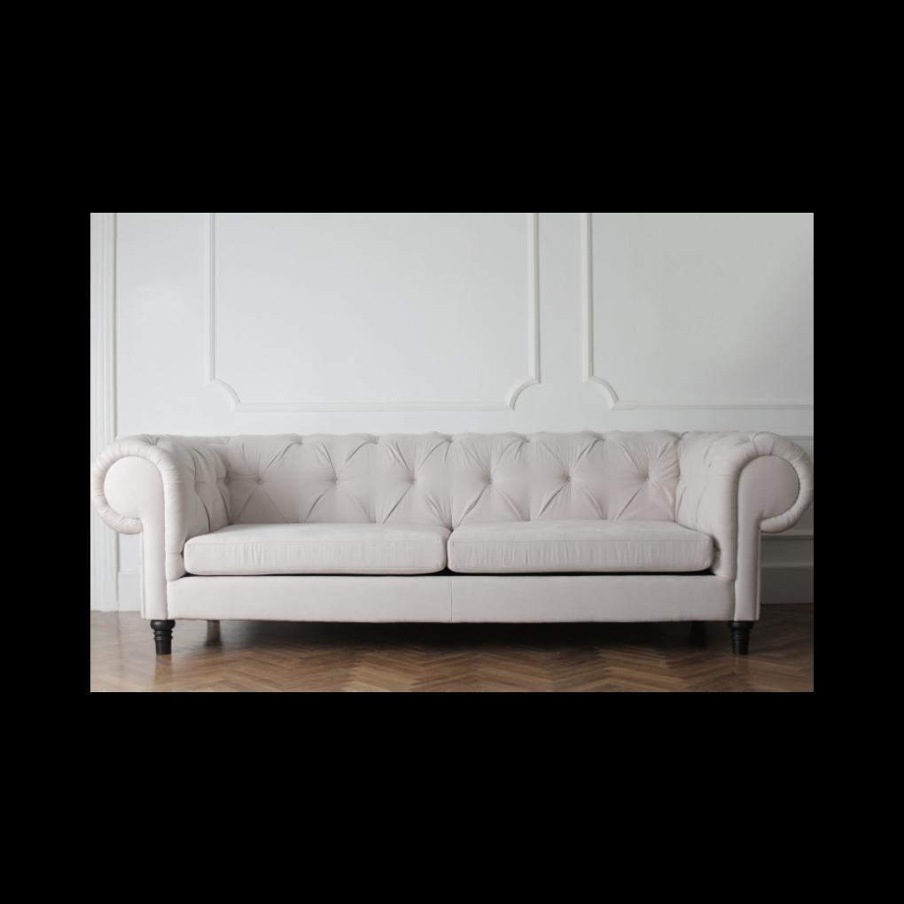 Sofá Chester capitoné o capitoneado color BLANCO, sofás exclusivos, sofás personalizados, interior design, Quito, Ecuador