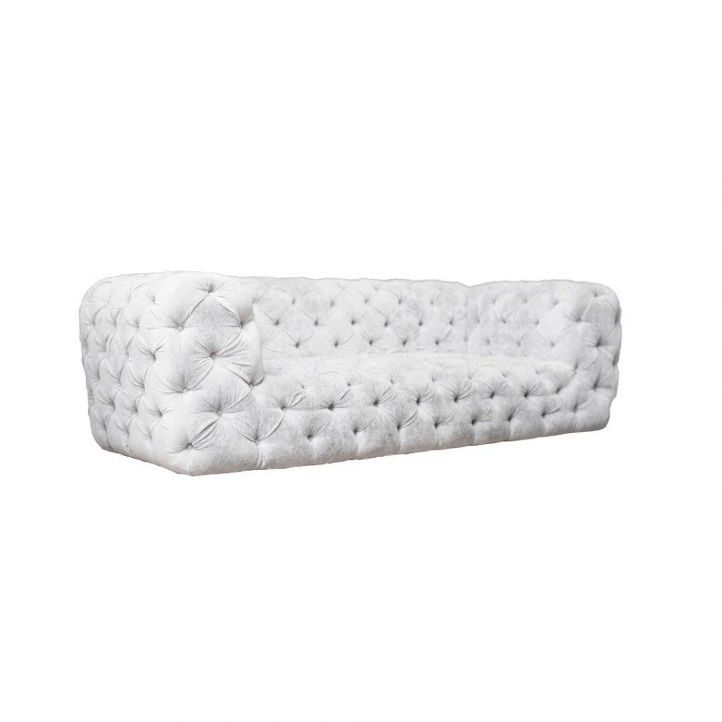 Sofá capitoné o capitoneado blanco, sofás exclusivos, sofás personalizados, interior design, Quito, Ecuador
