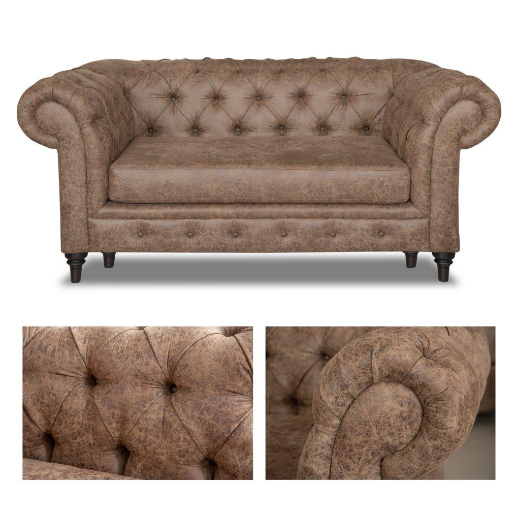 Sofá Chester capitoné o capitoneado color café, sofás exclusivos, sofás personalizados, interior design, Quito, Ecuador