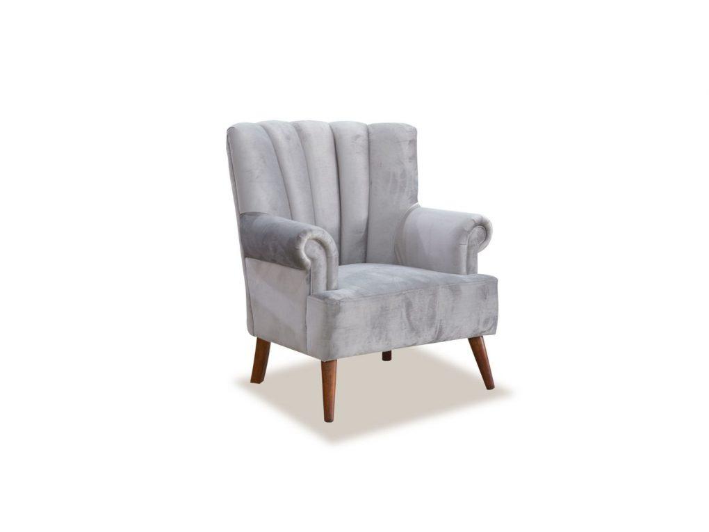 Poltrona clásica color gris