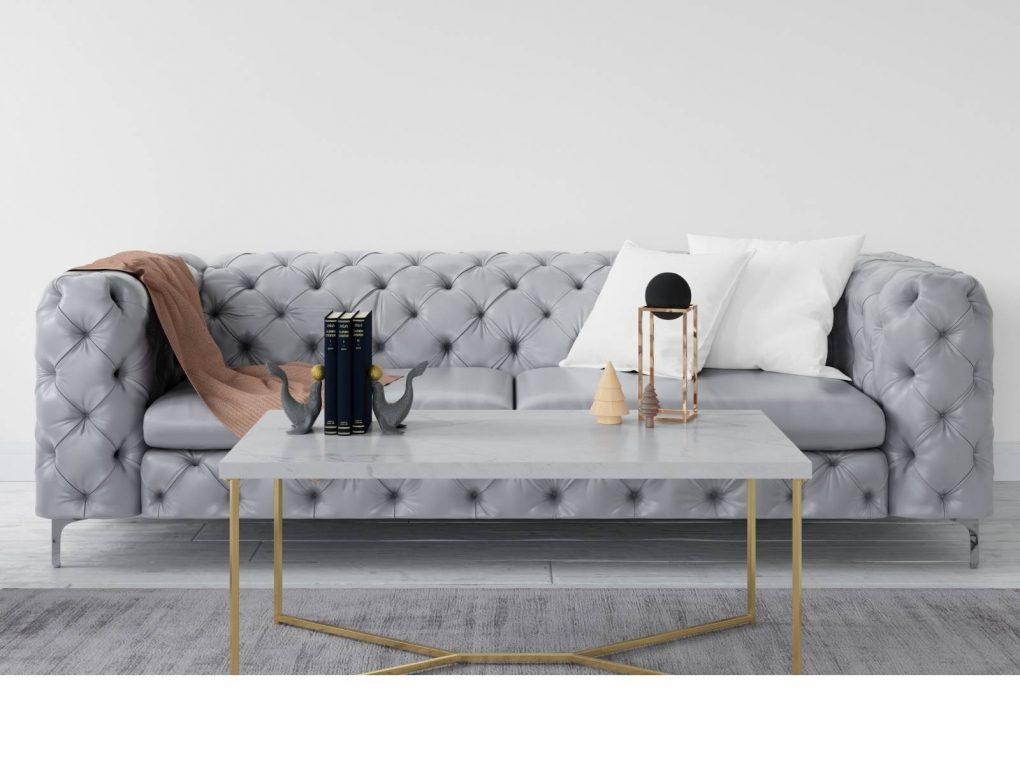 Sofá capitoné moderno color gris